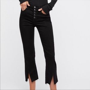 free people — split hem bootcut jeans